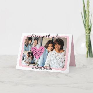 Best Mom Ever Photo Collage Mother's Day Holiday Card