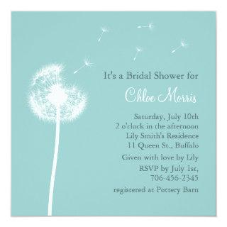 Best Wishes! Bridal Shower Invitations (turquoise)