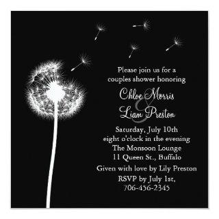 Best Wishes! His and Her Shower Invitations (black)