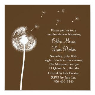 Best Wishes! His and Her Shower Invitations (brown)