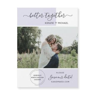 Better Together Photo Save the Date Wedding Modern