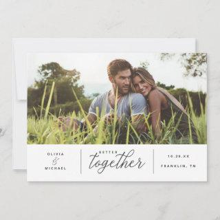 Better Together Save the Date Photo