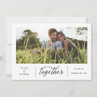 Better Together Wedding Save the Date