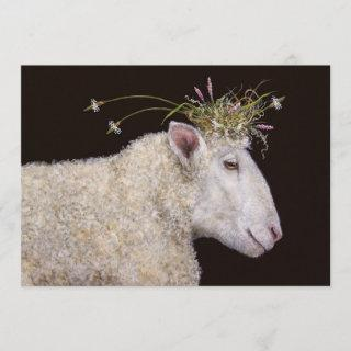 Bianca the sheep engagement party invite
