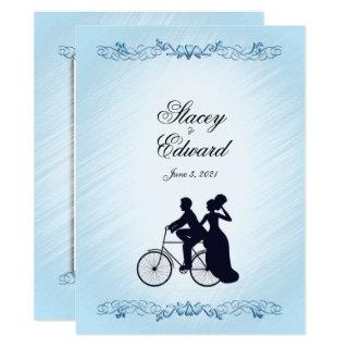 Bicycle Wedding Theme  Invitation