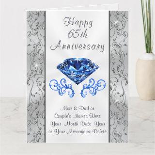 Big Beautiful 65th Wedding Anniversary Cards