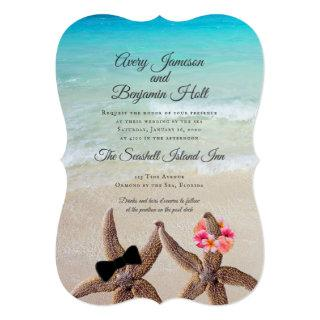 Big Starfish Bride Groom Marriage By The Sea Invitations