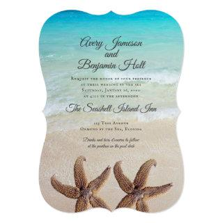 Big Starfish Marriage By The Sea Invitations