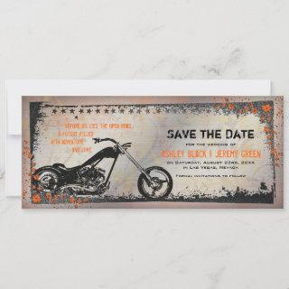 Biker or Motorcycle Wedding Save the Date