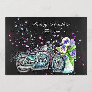 Biker Wedding Invitations with Motorcycle