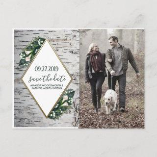 Birch Tree Botanical Wedding Save the Date Cards