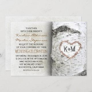 Birch Tree Rustic Wedding Invitations