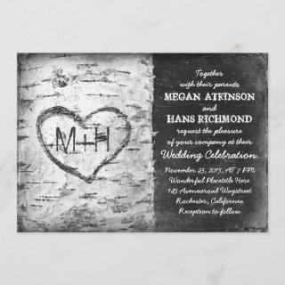 birch tree wedding invitations