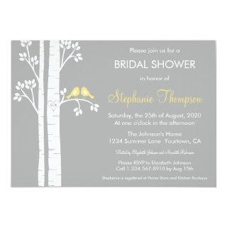Birch Trees & Love Birds Bridal Shower Invitation