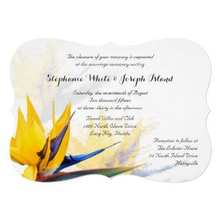 Bird of Paradise Beach Wedding Invitation