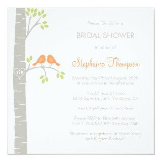 Birds in Birch Trees Bridal Shower Invitation
