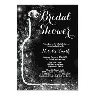 Black and Gold Bridal Shower Invitation Wine