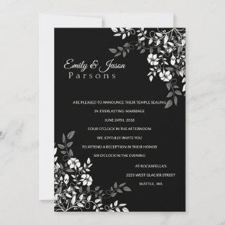 Black and White Floral Reception