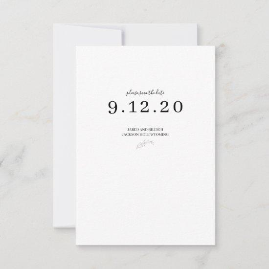 Black and White Simple Wedding Save the Date