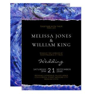 Black Art Wedding Invitation