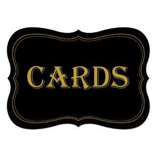 Black & Gold 1920's Gatsby Wedding Cards Sign
