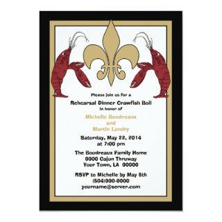 Black Gold Crawfish Boil Event II Invitations