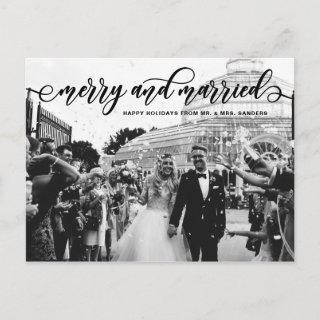 Black Merry & Married Calligraphy Wedding Holiday