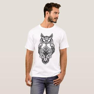 Black Owl Henna Style Women_s Wildlife Nature Know T-Shirt