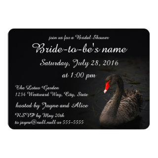 Black Swan Bridal Shower Invitations
