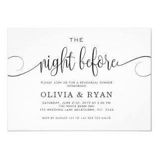 Black the night before Invitations