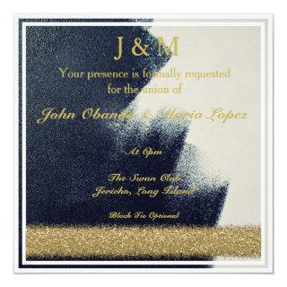 Black, White and Gold Wedding Invitations