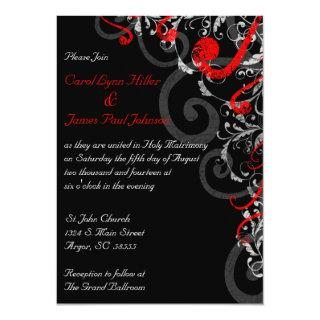 Black, White and Red Wedding Invitations