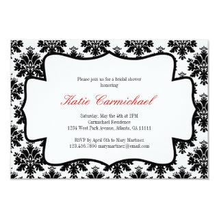 Black & White Damask Invitation