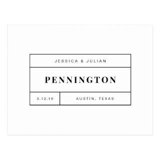 Black & White Personalized Thank You for Weddings Postcard