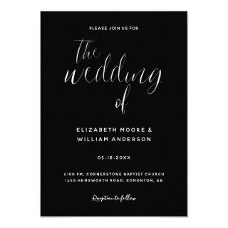 Black & White Simple Elegant Minimalist Classy Invitations