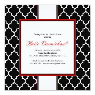 Black & White Tuxedo Invitation, Red Invitation