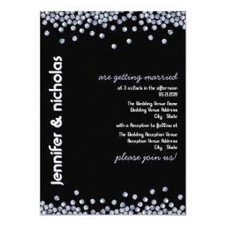 Bling Diamonds Glitter Wedding Invitations