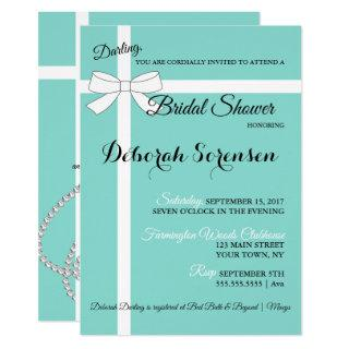 Bling & Fabulous Bridal Shower Tiara Party Invitations