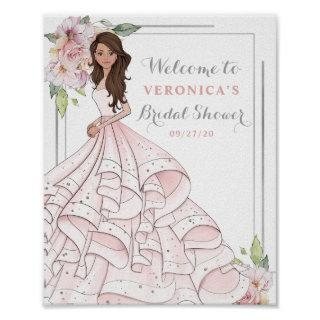 Blingy Glamour Bride Bridal Shower Welcome Sign