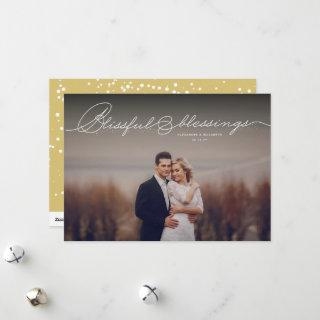 Blissful Blessings Religious Christmas Photo Holiday Card