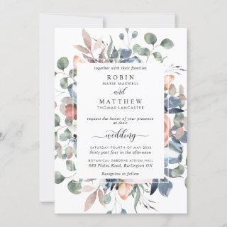 Blissful Floral Dusty Blue and Greenery Wedding
