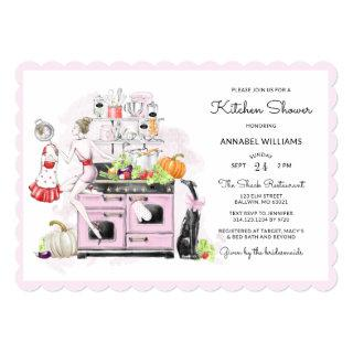 Blonde Bride Retro Bridal Kitchen Shower Invitation