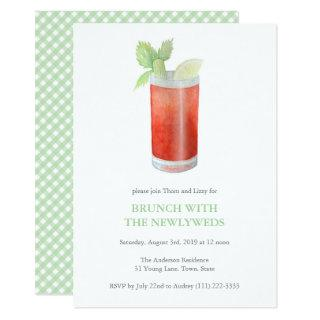 Bloody Mary Newlywed Hangover Brunch post wedding Invitations