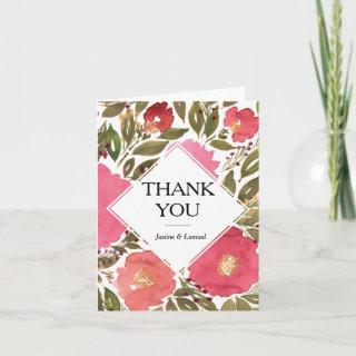 Bloom Flowers Thank You Card