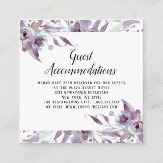 Blooming Amethyst Floral Guest Accommodations Enclosure Card