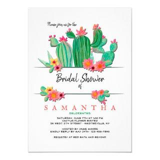 Blooming Cactus Bridal Shower Invitations