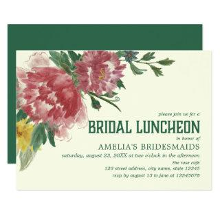 Blooming Flowers Bridal Luncheon Invitations