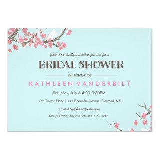 Blooming Tree Branches Bridal Shower Invitations