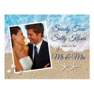 Blue Beach Waves Sandy Toes Salty Kisses Photo Postcard