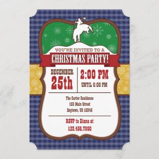 Blue Cowboy Christmas Party